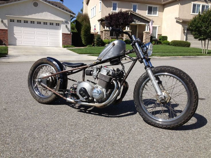 Honda CB750A automatic hardtail custom with sportster tank