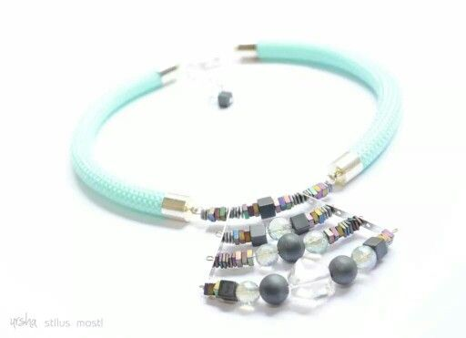 Semi precious statement necklace by ursha www.facebook.com/urshastylenow