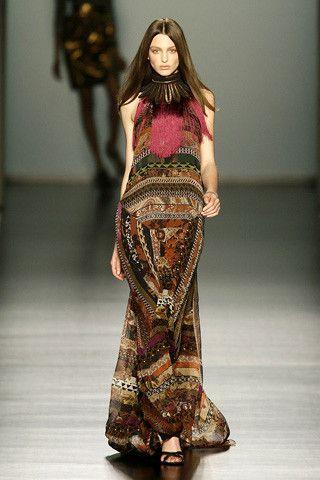 ETRO / Fall 2009 / RTW / High Fashion / Ethnic & Oriental / Carpet & Kilim & Tiles & Prints & Embroidery Inspiration /
