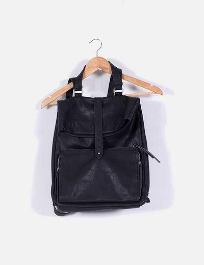 Bolso mochila negra Zara
