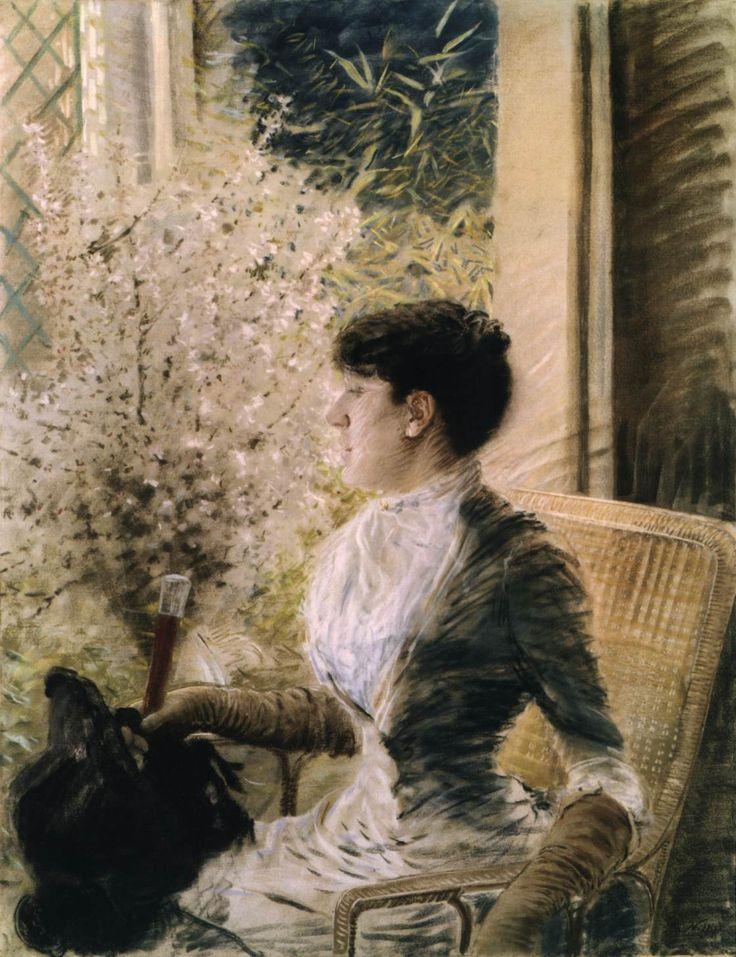 Giuseppe+de+Nittis,+1883,+Bow+Window,+Galleria+d'Arte+Moderna,+Ca'+Pesaro,+Venice.jpg (1120×1457)