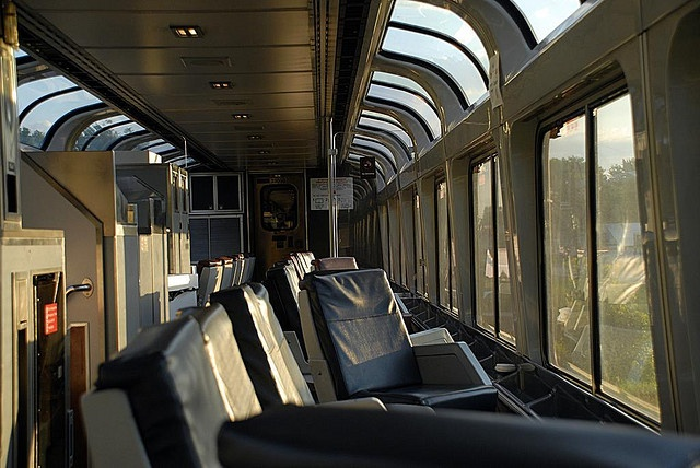 Amtrak City of New Orleans - Observation Car at Sunrise by rekanize, via Flickr