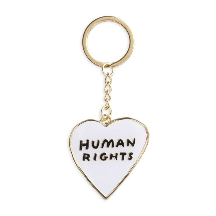 Human Rights Heart Keychain, Key Chain, Keyring, Art, Gift, Stocking Stuffer (Item Key38) by thefoundretail on Etsy https://www.etsy.com/listing/530896290/human-rights-heart-keychain-key-chain
