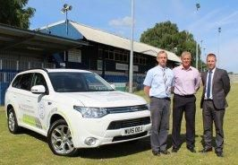 Chippenham Town unveils latest signing - a Mitsubishi