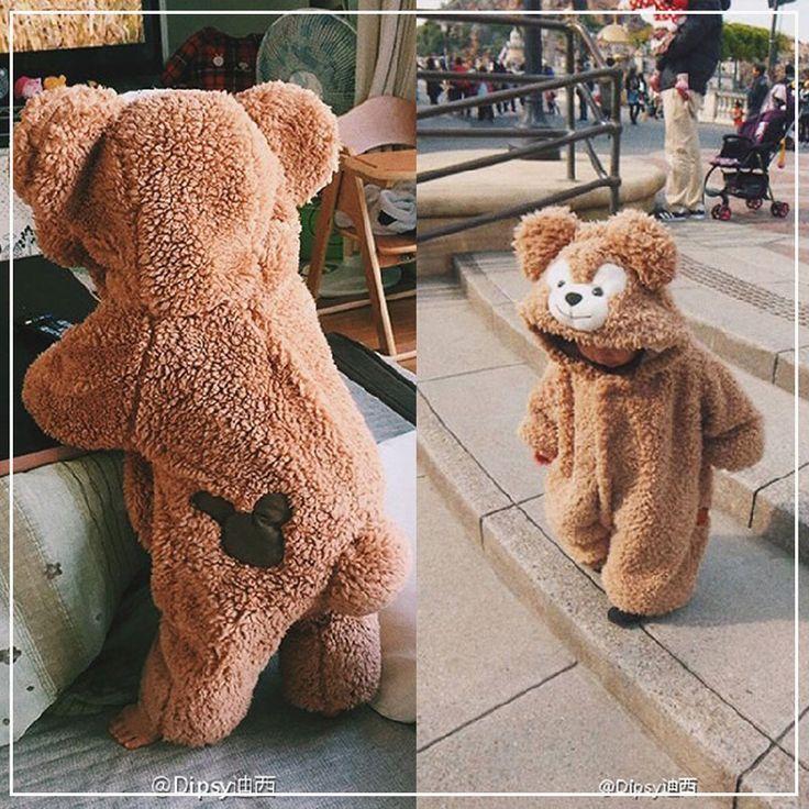 Vêtements d'hiver pour nouveau-nés Costumes d'animaux Ours Salopette d'hiver pour les enfants …   – ~*•.ⓚⓘⓓⓢ.•*~