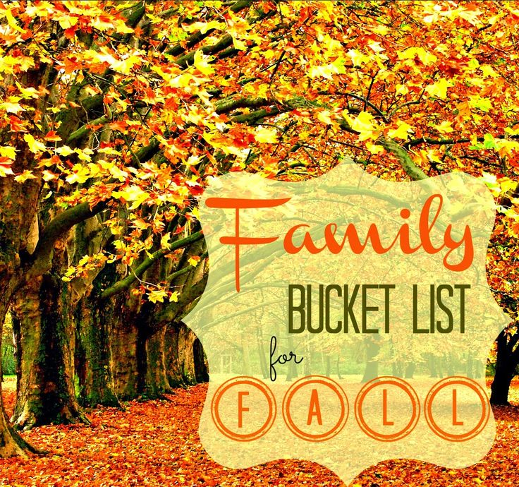 Looking for some new activities for Fall? I'm going to do some from this Family Bucket List.