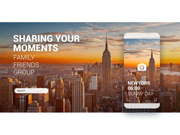 Dribbble - App for  sharing moments by MIN