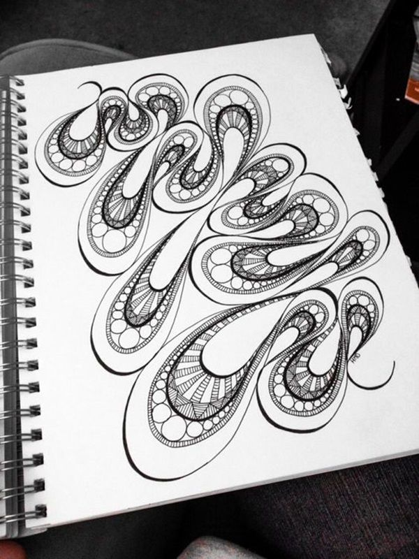 40 Absolutely Beautiful Zentangle patterns For Many Uses - Bored Art