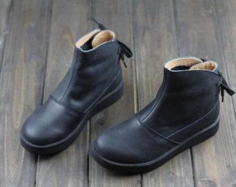 Items similar to Handmade Shoes for Women, Flat Shoes, Retro Leather Shoes, Casual Shoes, Vintage Style Shoes,Oxford Women Shoes on Etsy