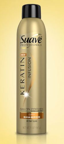 Suave Professionals Keratin Infusion Dry Shampoo. As good as Bumble and Bumble but three dollars!