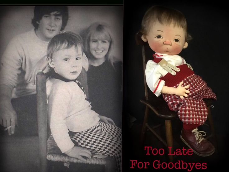 TOO LATE FOR GOODBYES  a little representation of the song   Little Baby JULIAN LENNON  One of a Kind baby by doll designer Jan Shackelford  2016   FACEBOOK : Only Jan Shackelford Babies