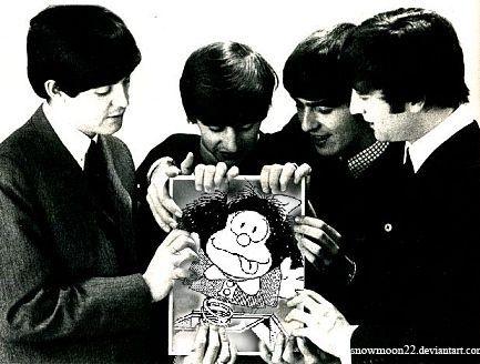 Mafalda fan de los Beatles