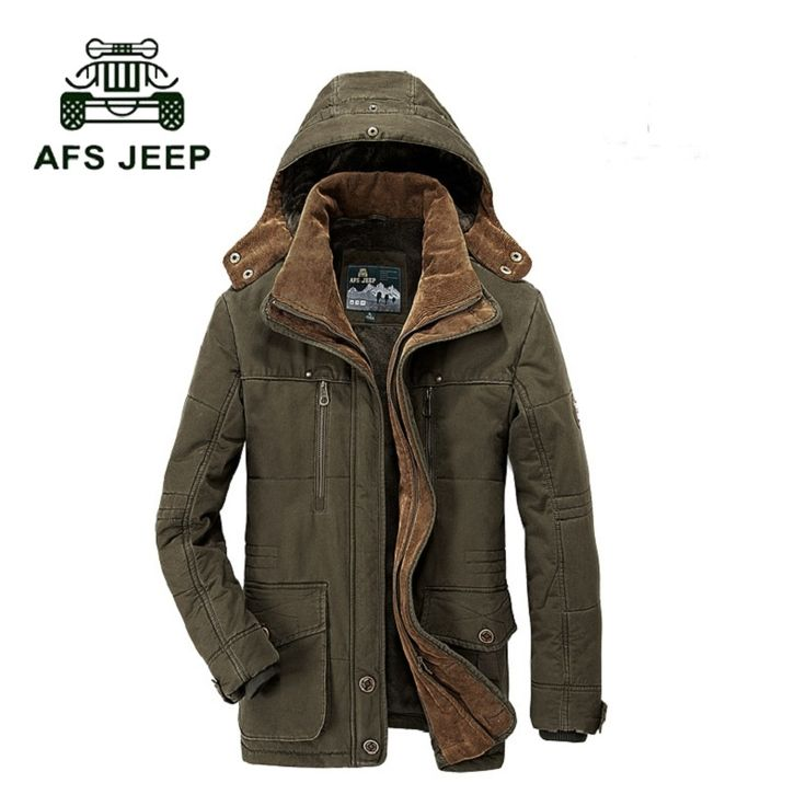 (64.67$)  Buy here  - Brand parka men AFS JEEP Winter jacket men warm thick fleece branded jacket Cotton-Padded Jacket mens  parka coat plus size 4XL