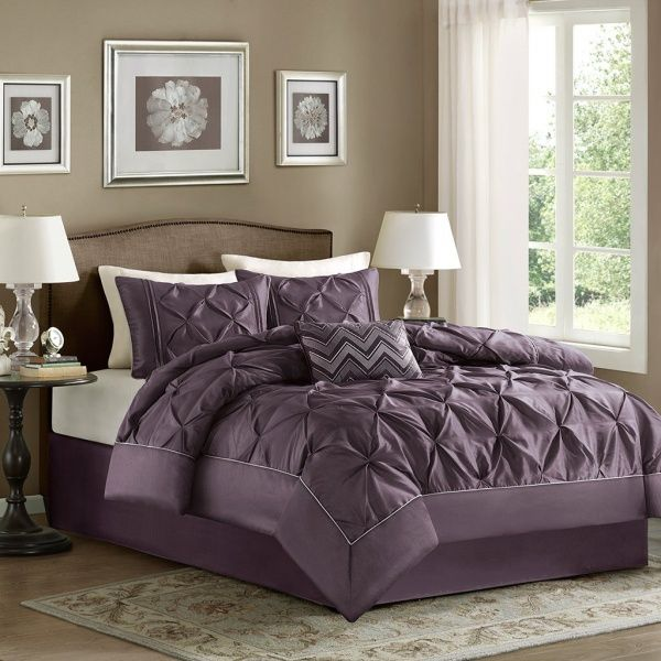 17 best images about house stuff on pinterest modern for Purple and taupe bedroom