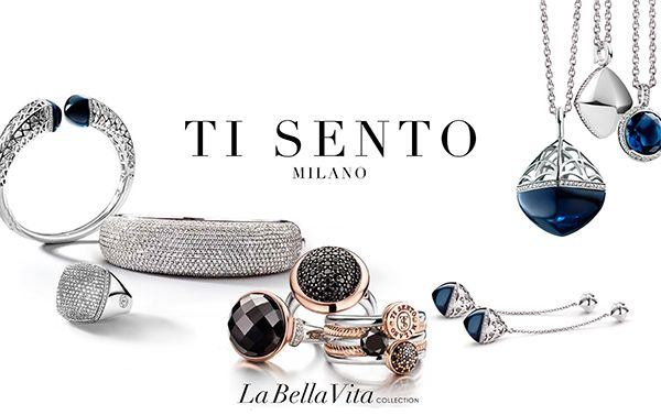"""Ti Sento Milano Ti Sento was born. Coupled with truly the highest quality manufacturing available, hand set by old school diamond setters (no glue allowed), designed and finished as the most expensive fabulous jewelry, From the Italian meaning """"I feel you"""". Ti Sento creates bold, romantic, feminine creations of sterling silver jewelry encrusted with fabulous Cubic Stones in an array of shapes and sizes are simply fabulous"""