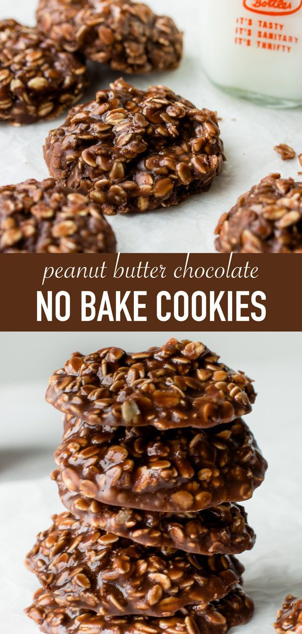The BEST no bake cookies recipe with peanut butter, chocolate, and oats. They only take a few minutes to make!