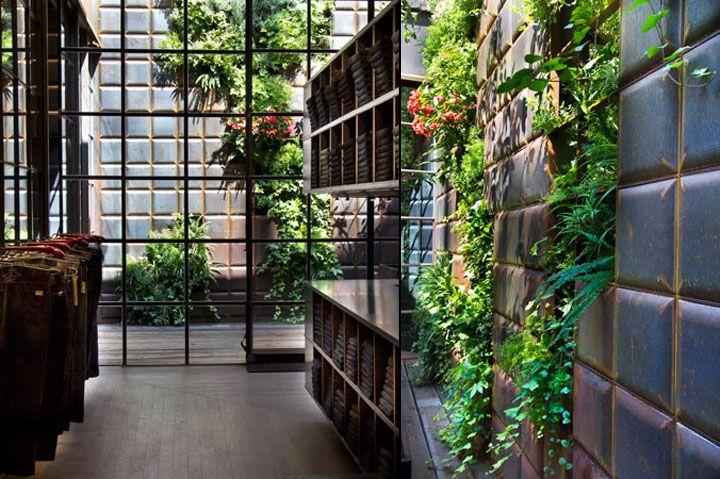Replay Store by Vertical Garden Design, Barcelona. #retail