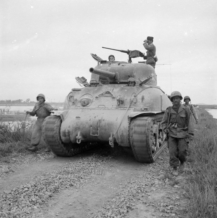 M4 Sherman in service with the French Army during the First Indochina War