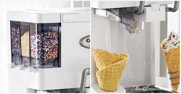 """Même si ce n'est plus vraiment la saison, cette machine à glace est une petite merveille. La """"Mix-It-In Soft Serve Ice Cream Maker ICE-45"""" est une machine à faire des glaces à l'italienne et des sorbets de qualité professionnelle. Conçue par CuisinArt, elle est très facile à util"""