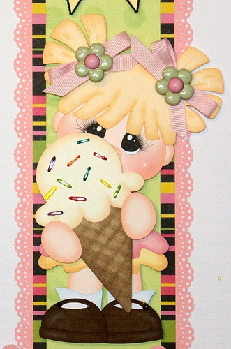 """""""Sweet Summer Treats"""" vertical border for scrapbook pages."""
