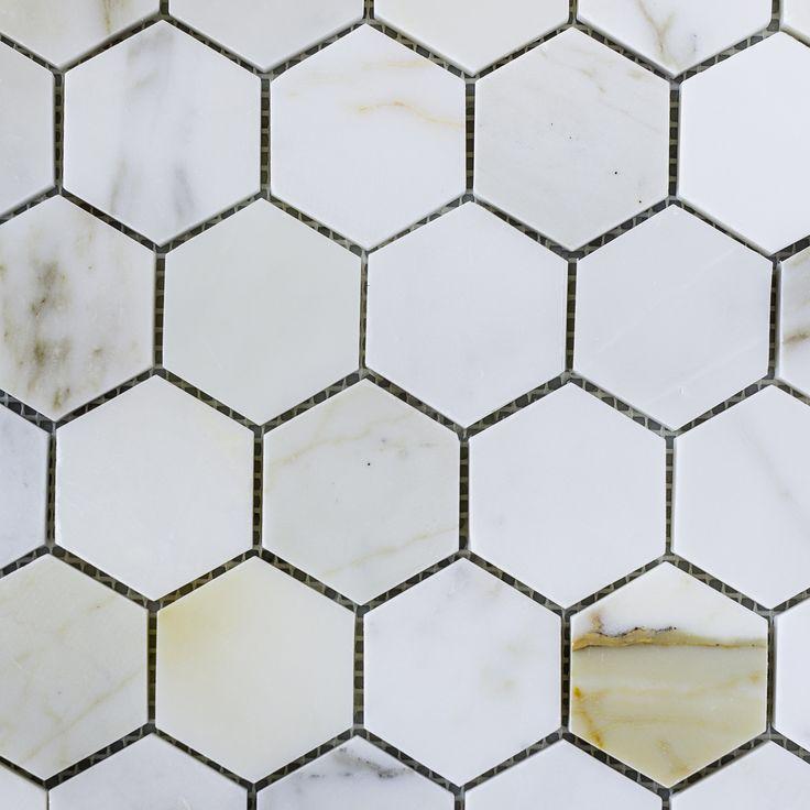 Designer Marble | Calacatta Gold Hexagon Mosaic 80MM