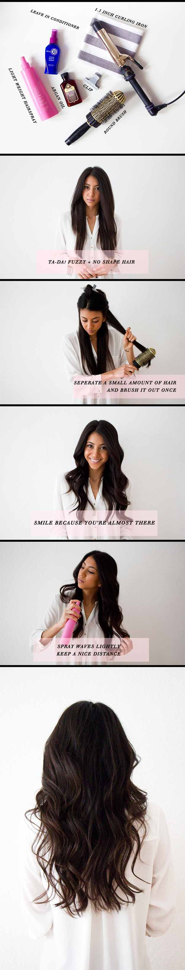 Long Wavy Hairstyles - Hair How to: Loose Waves - Beautiful Long Layered Haircuts And Long Wavy Haircuts With Layers And With Bangs. Half Up Bob Tutorial For Wedding, Prom, Or For Homecoming. No Heat Wavy Hairstyles That Are Gorgeous And Natural. Black, Blonde, And Brunette Long Wavy Hairstyles For Round Face, With Braid, With Ponytail, and With Medium Length Hair. DIY Ideas For That Boho Look, Or Updos For Medium Length Hair. Add More Volume For Thin Hair With Waves And Curls…