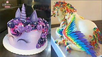 Top 20 Easy Birthday Cake Decorating Ideas - Cakes Style 2017 - oddly satisfying cake videos - YouTube