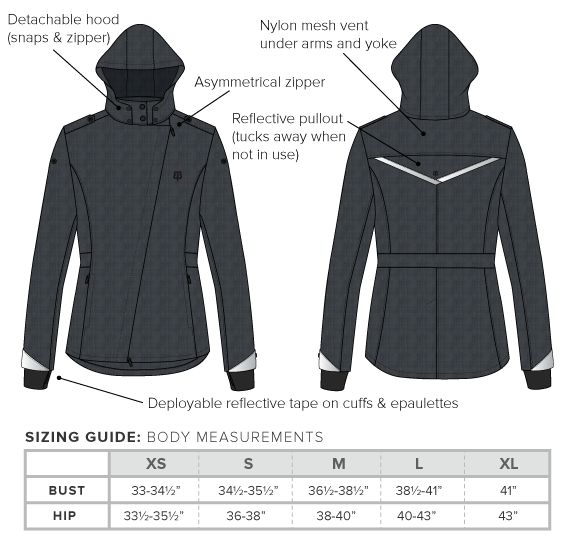 black bike to work jacket for women. http://www.betabrand.com/womens/outerwear/womens-black-bike-to-work-cycling-jacket.html