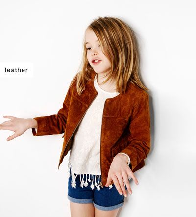 Image 1 of Peccary leather jacket from Zara