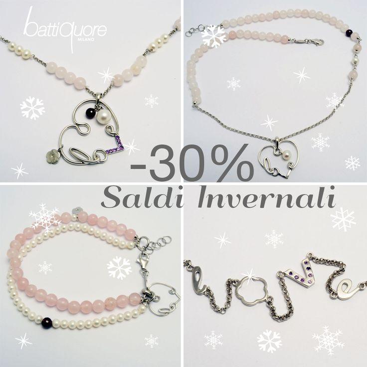 Battiquore Milano | È tempo di saldi! 30% di sconto sui gioielli della linea KeyLove con quarzo rosa!