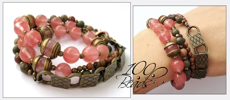 Bracelet 12 € #bracelet #stones #1000beads #handmadejewelry #handmade #forsale #gift #rosecolour #turmalin #rosequartz #fashion #musthave #handmade #accessories