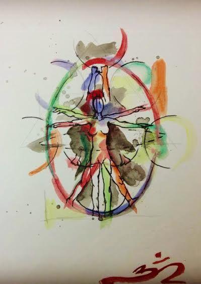 """""""Anatomy of a hooper"""" artwork done by Wayne Baechle for Natalie L. Champagne #hulahoop #hoopers #hoopart #hoopdance #hoopspam"""