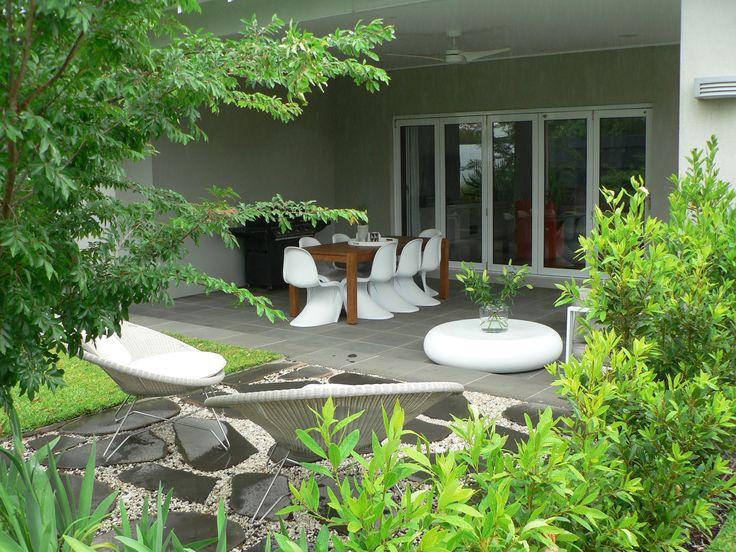 Outdoors looking in. www.rpgardendesign.com.au