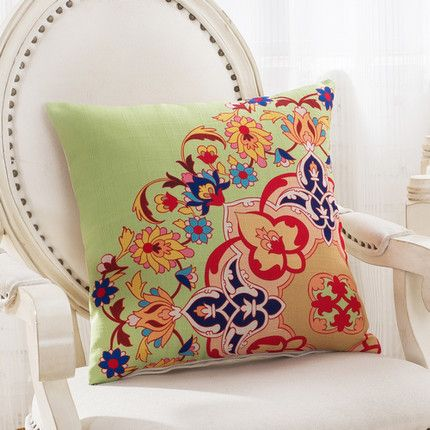 Bright and colorful classic Mediterranean throw pillow covers add a splash of decorative color to your home. Printed on washable cotton and polyester for easy maintenance. Free shipping. Filling: Cott