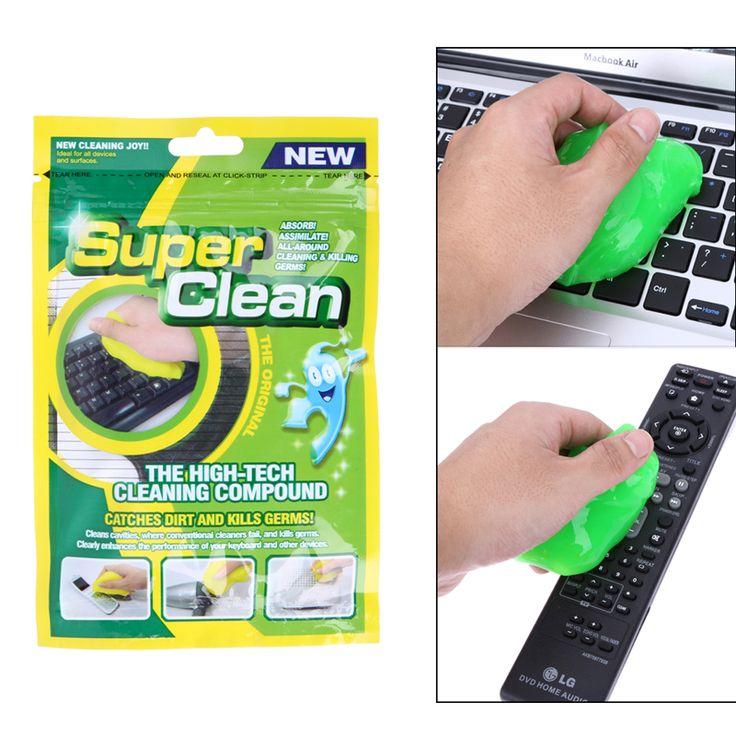 키보드 청소 도구 매직 젤 혁신적인 슈퍼 먼지 청소기 하이테크 청소 화합물 젤 무작위로