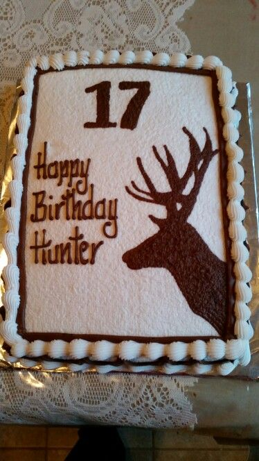 Hunting deer cake by Deb