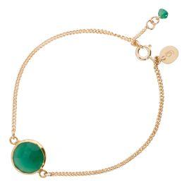 Gouden armband met Groene Onyx