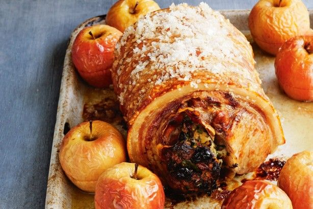 The sweet apples are the ultimate partner for the tender, juicy pork and salty crackling. Add a drizzle of gravy and you're set!