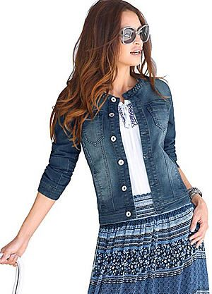 Creation L Cropped Denim Jacket #kaleidoscope #denim
