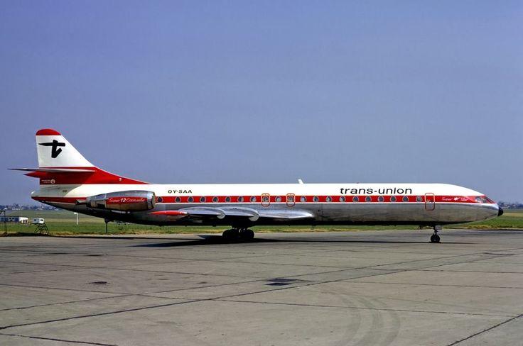 Trans-Union Aerospatiale Caravelle 12 OY-SAA c/n 270 Le Bourget Airport June 1974