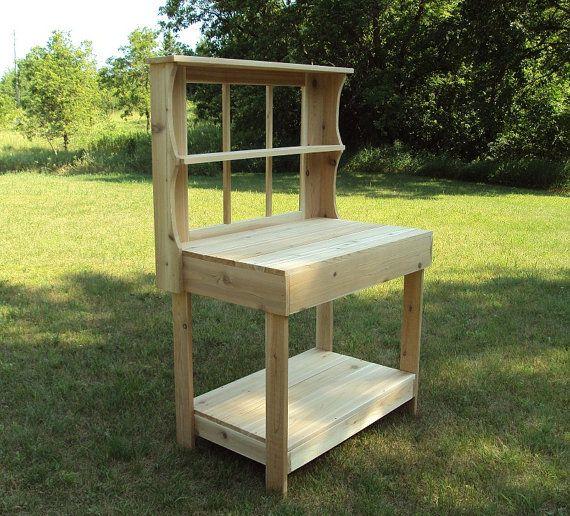 Cedar Potting Shed Table Bar Garden Patio Wedding Bench