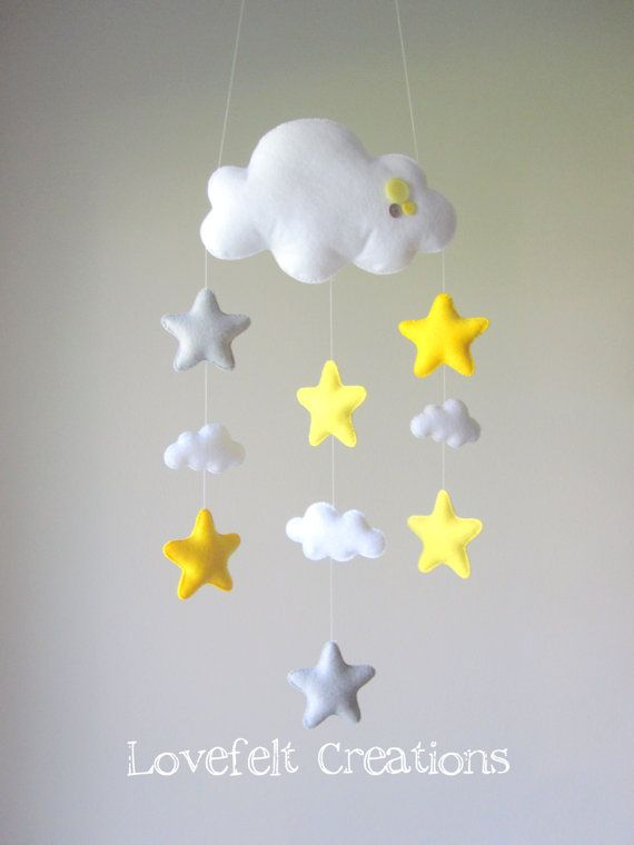 Baby mobile Stars mobile Cloud Mobile Baby by lovefeltmobiles