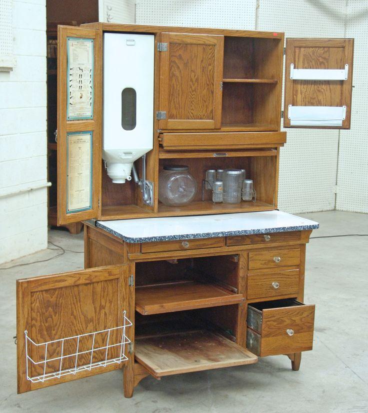 Oak Hoosier Style Kitchen Cabinet Oak