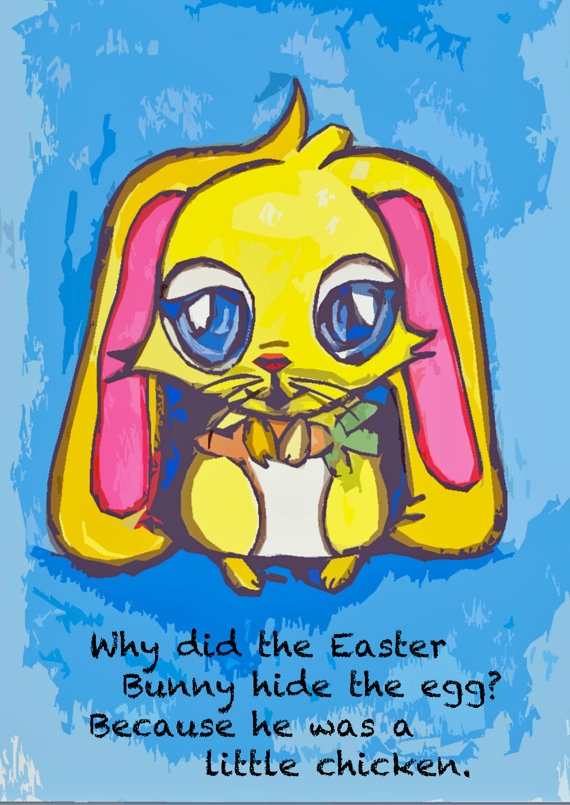 Easter bunny postcard with a joke Great for by CompletelyCollaged, $4.00