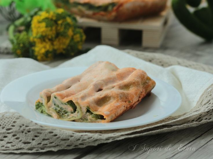 Cannelloni filled with ricotta cheese, mozzrella and turnip greens purèe So tasty....so italian