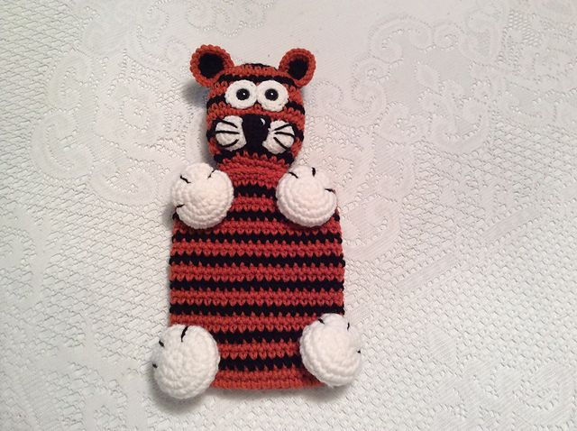 Ravelry: Tiger Snuggle Buddy Lovey or Security toy pattern by Lisa Kingsley