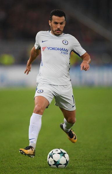 Pedro Rodriguez of Chelsea in action during the UEFA Champions League group C match between AS Roma and Chelsea FC at Stadio Olimpico on October 31, 2017 in Rome, Italy. - 293 of 299