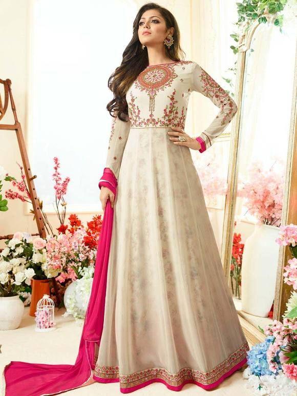 45c88acd88dc Off White Nitya Drashti Dhami Suit Online Price - Rs. 3
