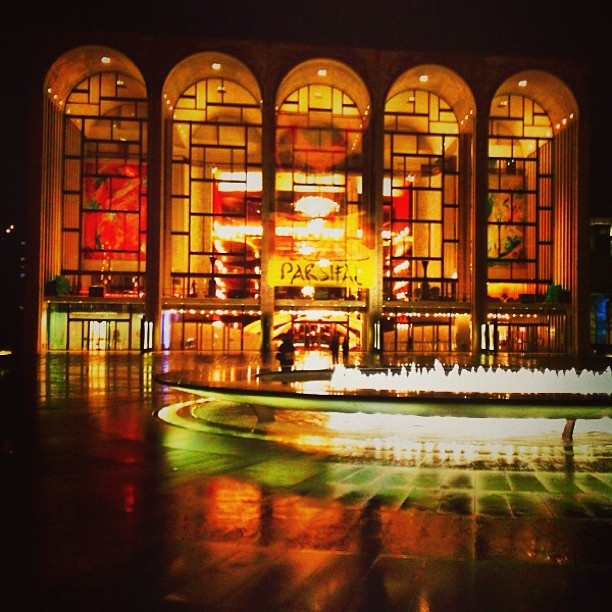 NYC Lincoln Center fountain. Someday, I want a picture of me doing some amazing yoga pose there.