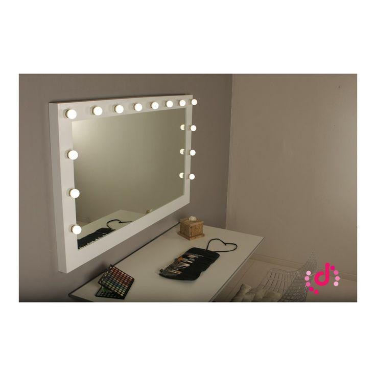 Espejo camerino espejo maquillaje profesional espejo luz for Espejo horizontal salon